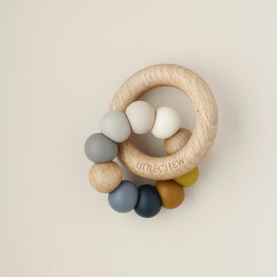 Silicone and Wood Ring Teether