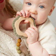 Saddle Wood + Silicone Teether