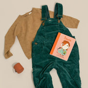 Corduroy Dungarees - Midnight & Forest Green
