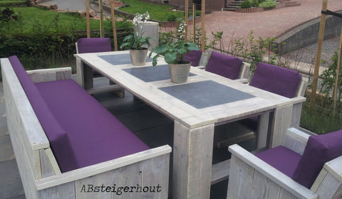 "Steigerhouten tafel ""Washington"""