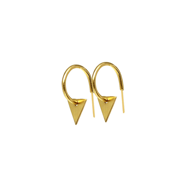 Hoop earrings with triangle pendant 2