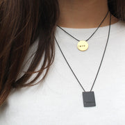 "RECTANGLE ""BELIEVE"" NECKLACE"