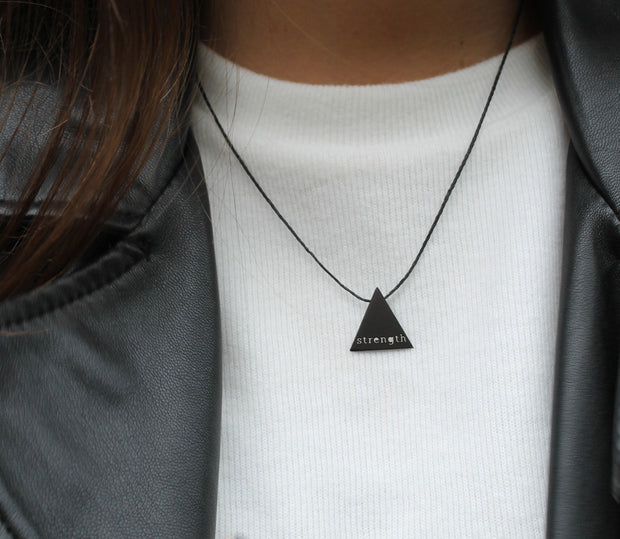 "TRIANGULAR ""STRENGTH"" NECKLACE"