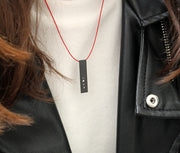 "RECTANGLE ""BETWEEN US"" NECKLACE (SHORT)"