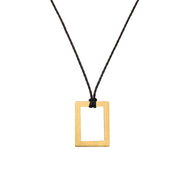 "RECTANGLE ""HOLLOW"" NECKLACE"
