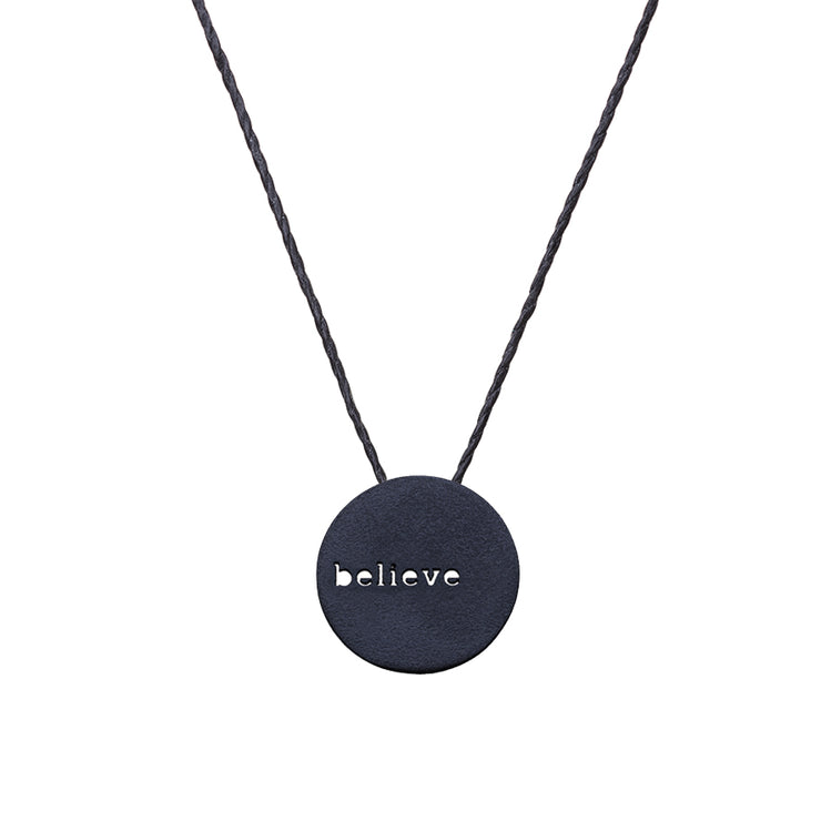 "CIRCLE ""BELIEVE"" NECKLACE"