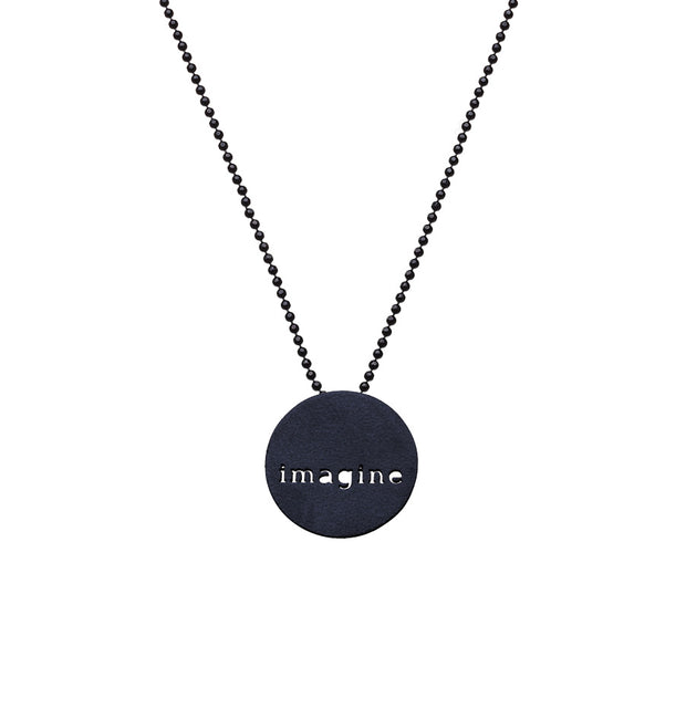 "CIRCLE ""IMAGINE"" NECKLACE"