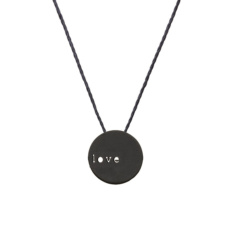 "CIRCLE ""LOVE"" NECKLACE"