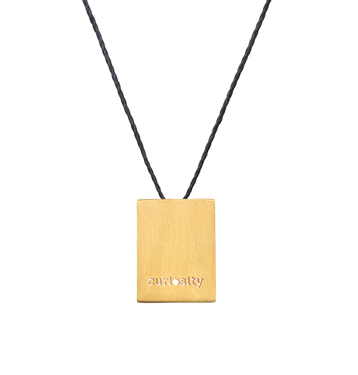 "RECTANGLE ""CURIOSITY"" NECKLACE"