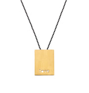 "RECTANGLE ""LOVE"" NECKLACE"