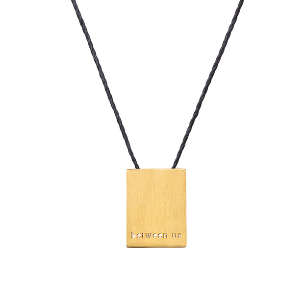 "RECTANGLE ""BETWEEN US"" NECKLACE"