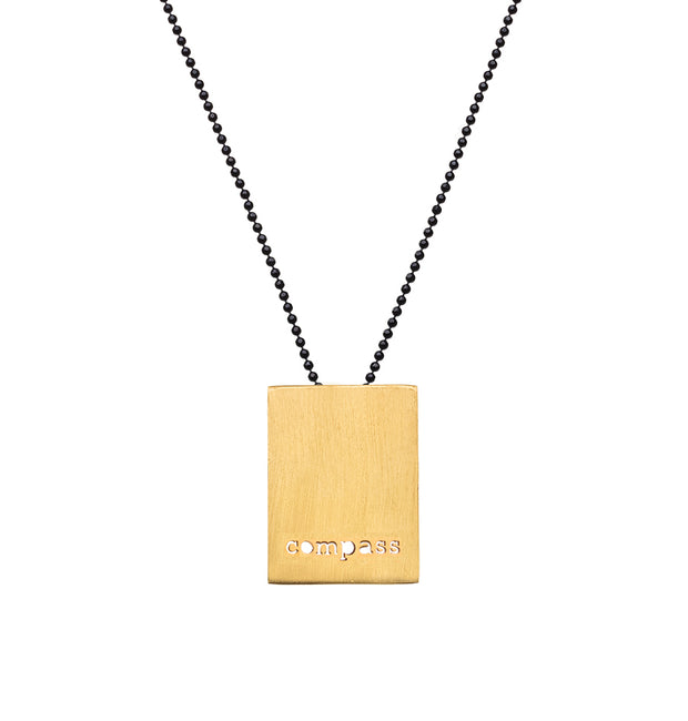 "RECTANGLE ""COMPASS"" NECKLACE"