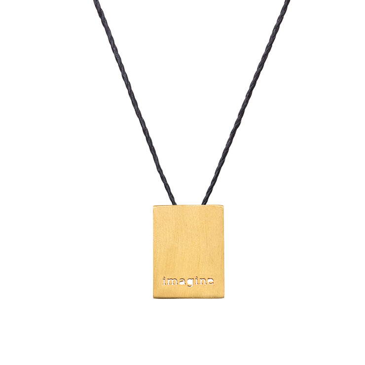 "RECTANGLE ""IMAGINE"" NECKLACE"