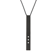 "RECTANGLE ""DOT"" NECKLACE (LONG)"