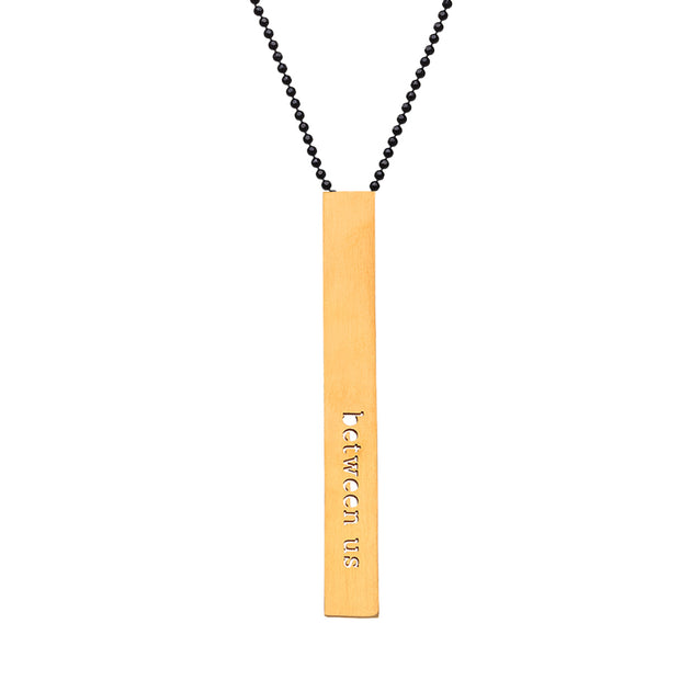 "RECTANGLE  ""BETWEEN US"" NECKLACE (LONG)"