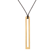 HOLLOW RECTANGLE NECKLACE (LONG)