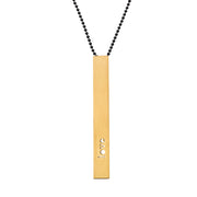 "RECTANGLE ""LOVE"" NECKLACE (LONG)"