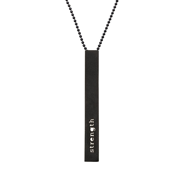 "RECTANGLE ""STRENGTH"" NECKLACE (LONG)"