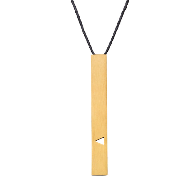 "RECTANGLE ""TRIANGULAR"" NECKLACE (LONG)"