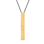 "RECTANGLE ""X"" NECKLACE (LONG)"