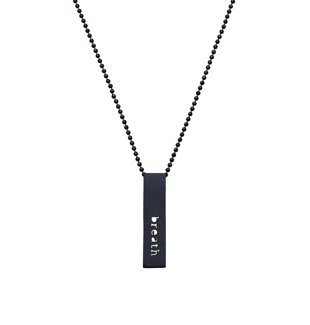 "RECTANGLE ""BREATH"" NECKLACE (SHORT)"