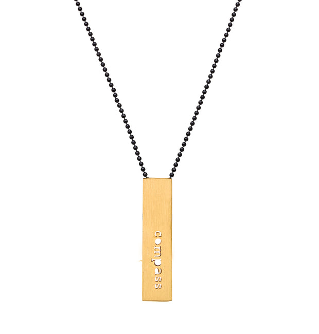 "RECTANGLE ""COMPASS"" NECKLACE (SHORT)"