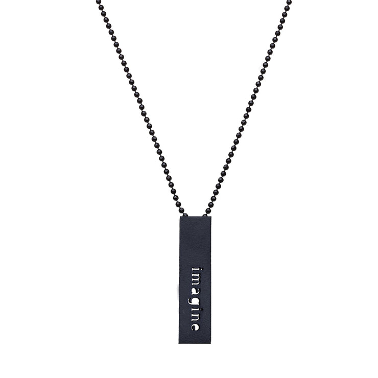 "RECTANGLE ""IMAGINE"" NECKLACE (SHORT)"