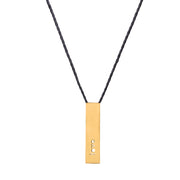 "RECTANGLE ""LOVE"" NECKLACE (SHORT)"