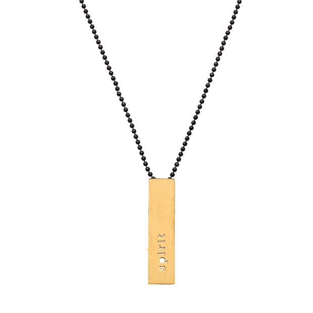 "RECTANGLE ""SPIRIT"" NECKLACE (SHORT)"