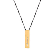 "RECTANGLE ""STRENGTH"" NECKLACE (SHORT)"