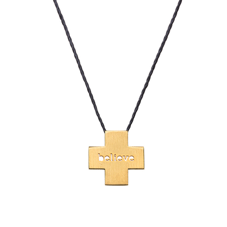 "PLUS ""BELIEVE"" NECKLACE"