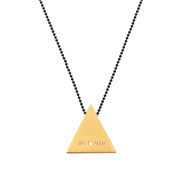 "TRIANGULAR ""CURIOSITY"" NECKLACE"