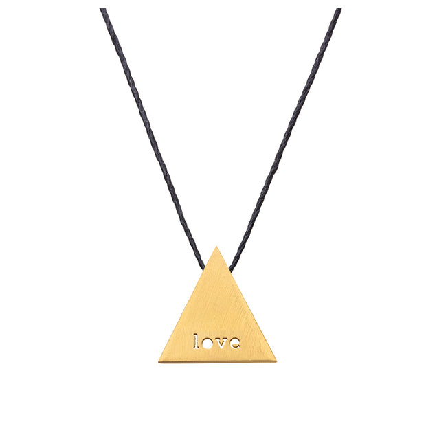 "TRIANGULAR ""LOVE"" NECKLACE"