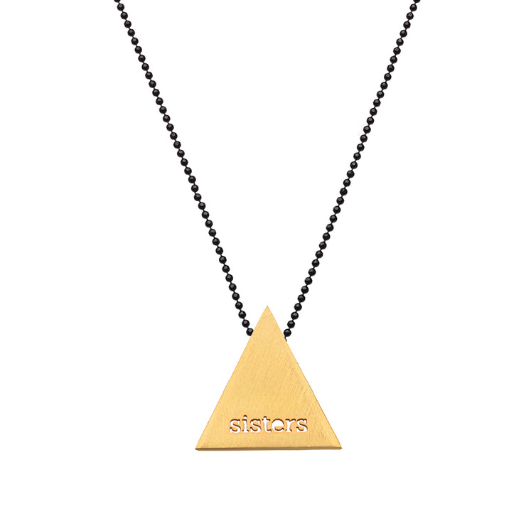 "TRIANGULAR ""SISTERS"" NECKLACE"