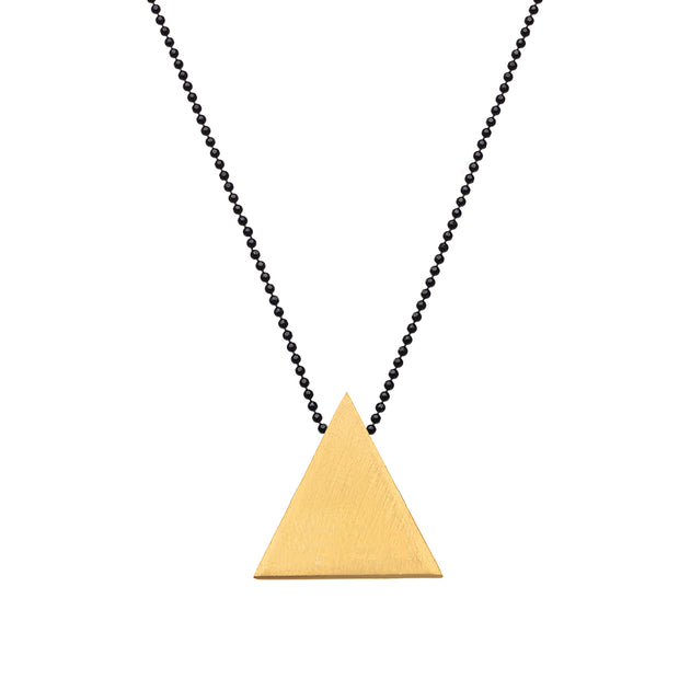 "TRIANGULAR ""SMOOTH"" SHAPE NECKLACE"