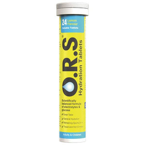 ORS Hydration Lemon 24 Soluble Tablets