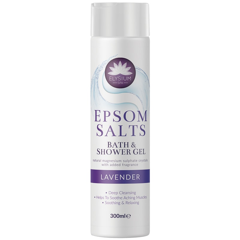 Elysium Spa Epsom Salts Lavender Bath & Shower Gel 300ml