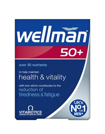 Vitabiotics Wellman 50+ Tablets 30