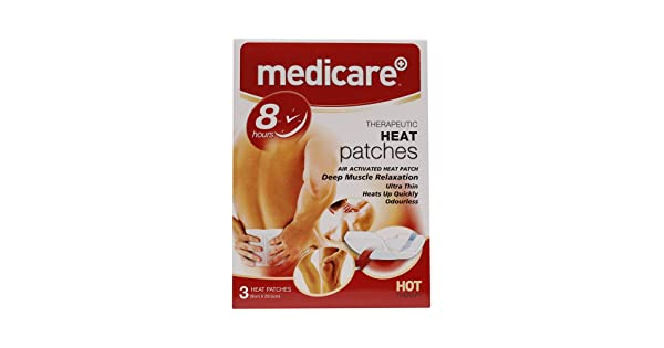 Medicare Heat Patches 3 pack