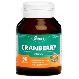Sona Cranberry with Vitamin C Caps 90 pure-pharmacy-ireland.myshopify.com