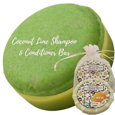 coconut lime verbena shampoo and conditioner bars