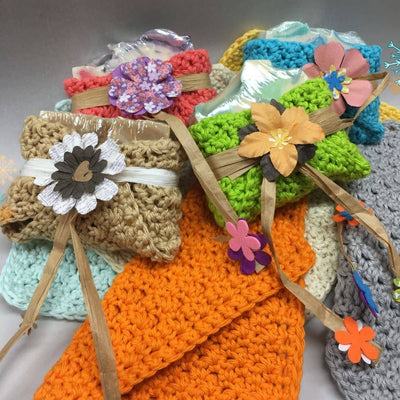 soap and crocheted washcloth