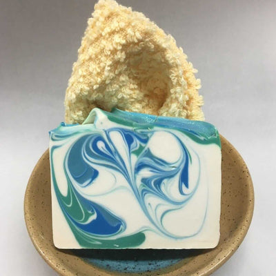soap and ceramic soap dish