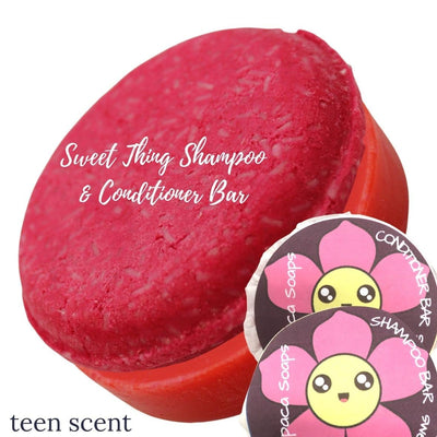 sweet thing shampoo and conditioner bars for teens