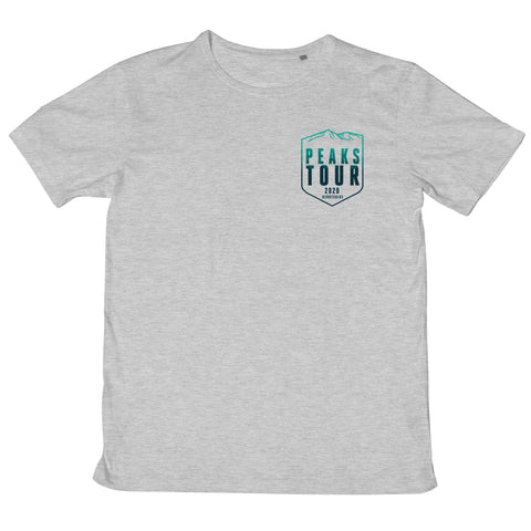 Peaks Tour 2020 - Small Logo - Men's T-Shirt