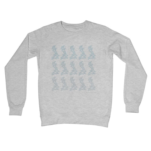 UKCE Gradient Grey Crew Neck Sweatshirt