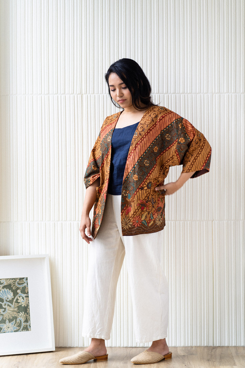 Batik Open Jacket | Damar