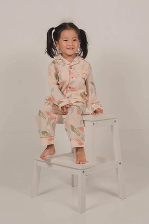 Moki Kids PJ Set in Spiral Blush