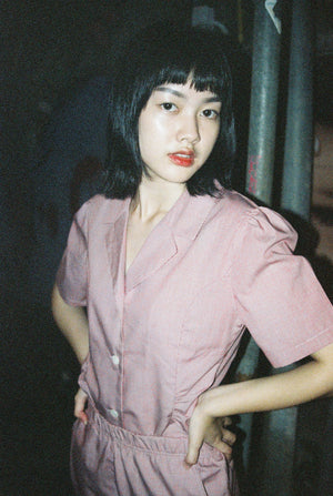 Not Long Ago Shirt in Red Micro-Gingham