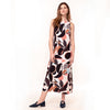 Thalia Midi Dress - Abstract Floral Print